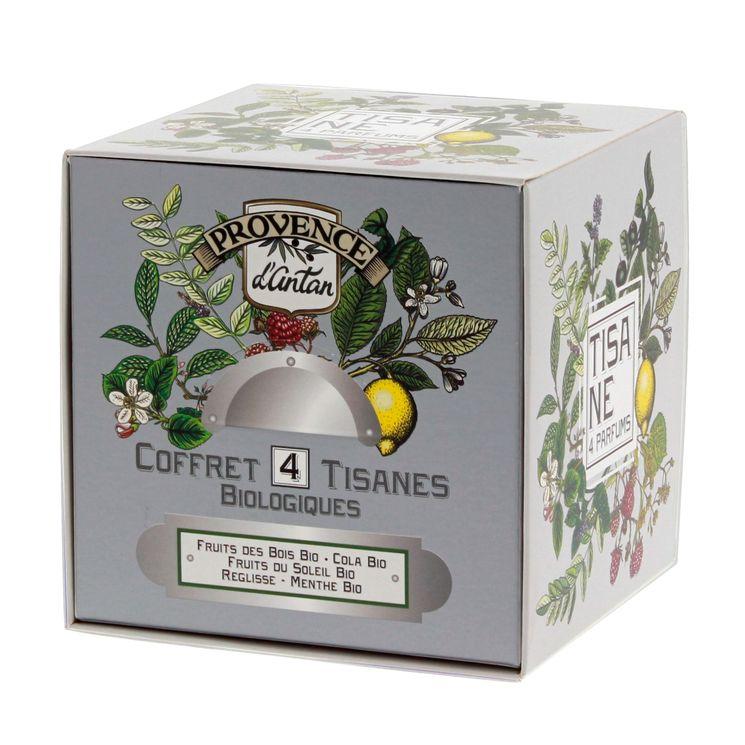 Recharge cube coffret 4 saveurs 24 sachets bio* 48g - Provence d´Antan