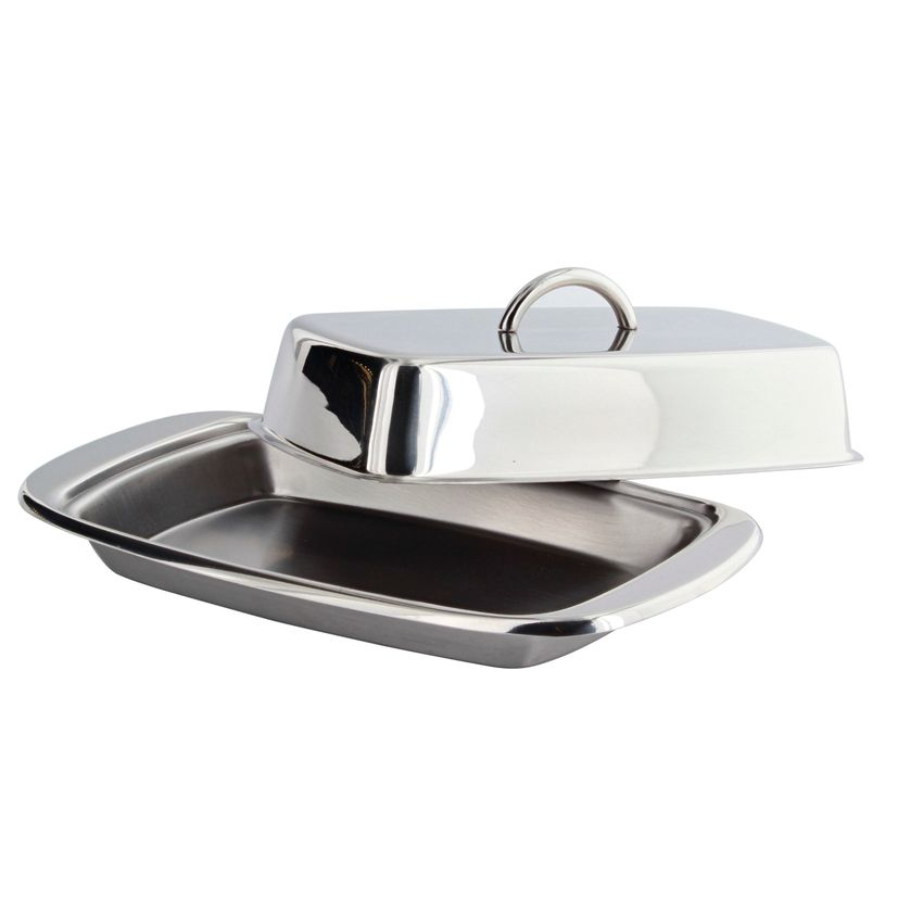 Beurrier avec couvercle en inox - Kitchen Craft