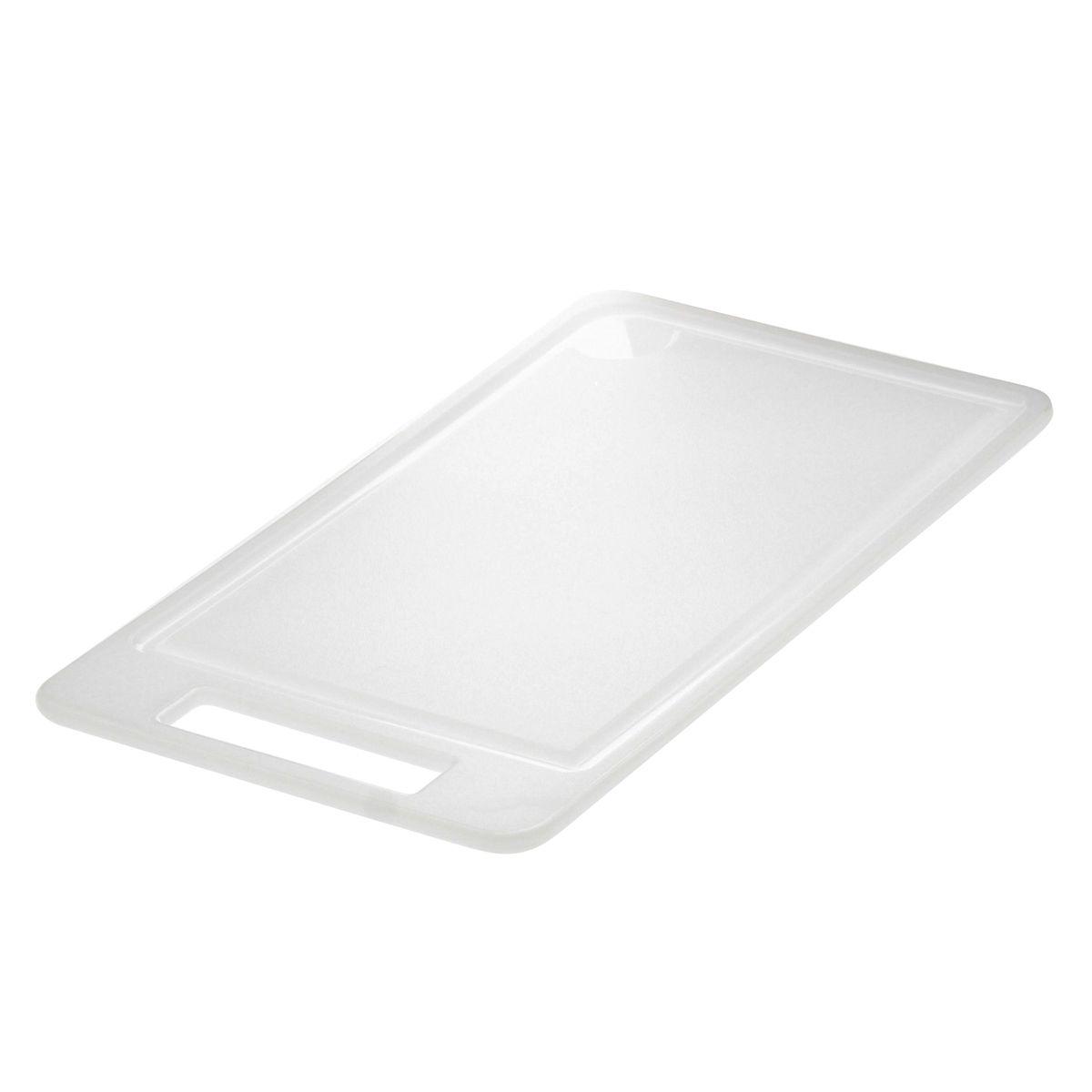 Planche blanche antibacterienne en polyéthylène 18x31 cm - Demolli