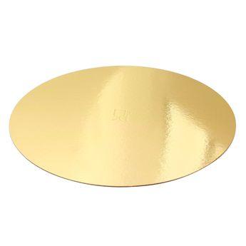 Achat en ligne 5 supports à gâteaux ronds dorés 24 cm - Gatodeco