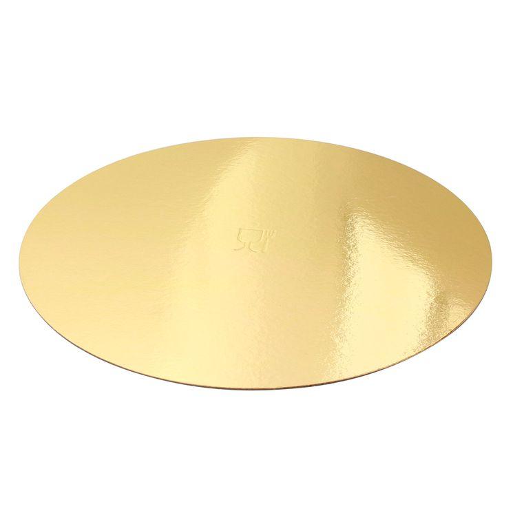 5 supports à gâteaux ronds dorés 24 cm - Gatodeco