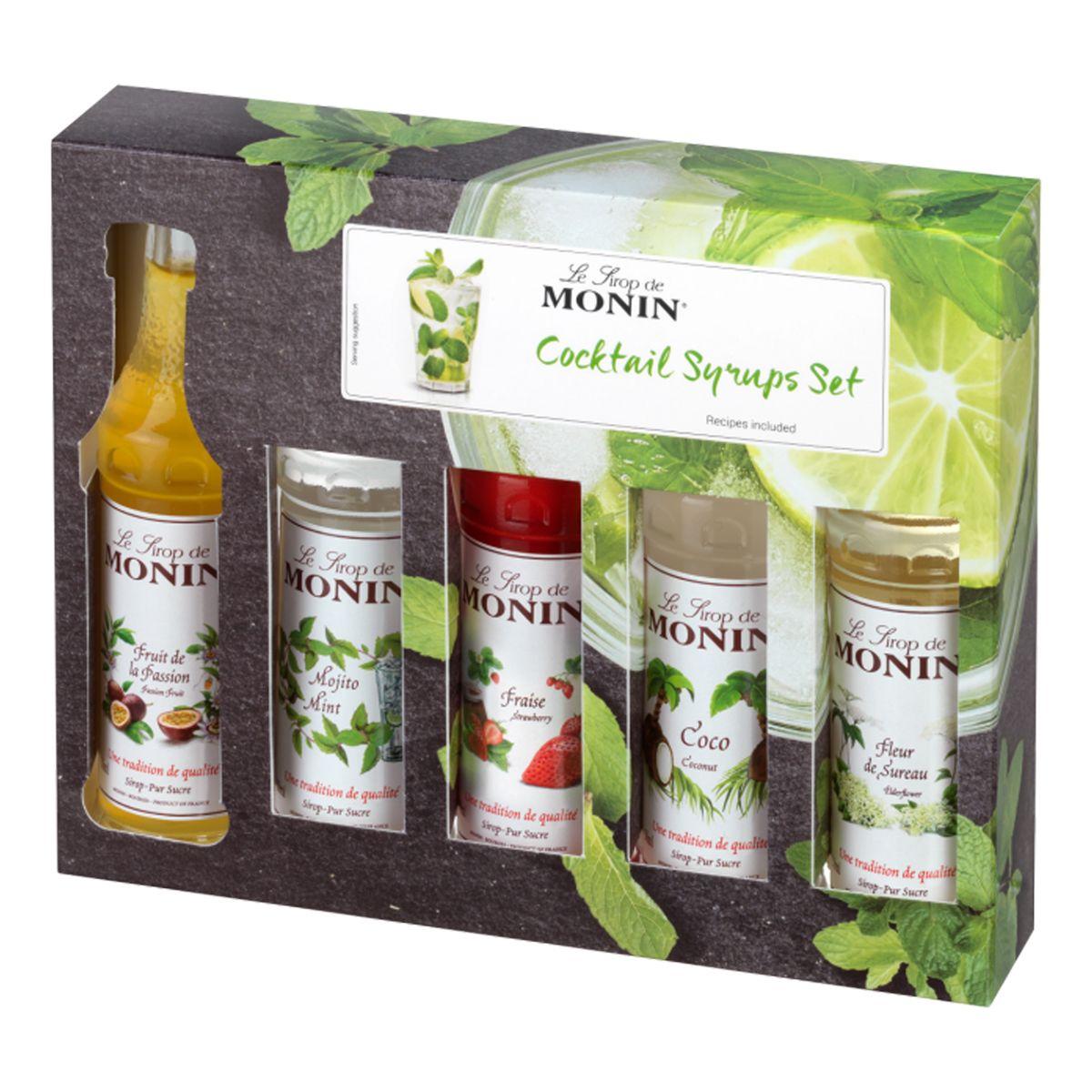 Coffret mini cocktails 5 mignonnettes 5 x 50ml - Monin