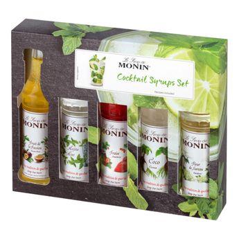 COFFRET MINI COCKTAILS , 5 MIGNONNETTES - MONIN
