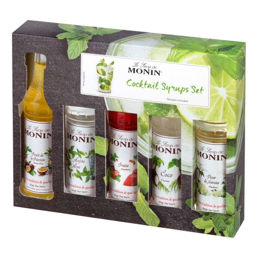 Coffret mini-cocktails - 5 mignonnettes - Monin