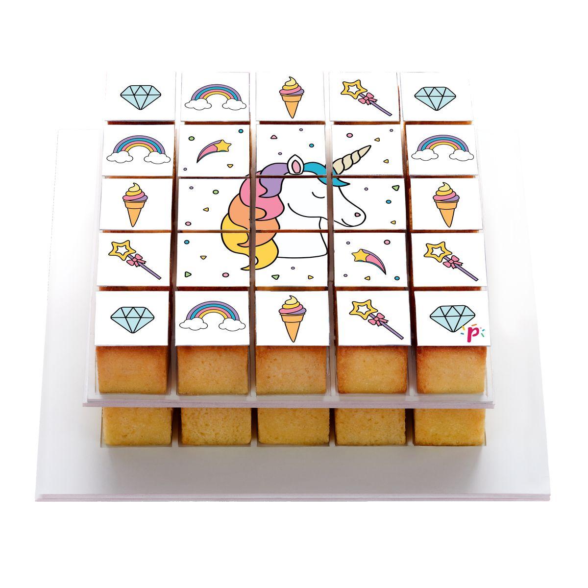 Pixdeco licorne décor en sucre pour pixmoule - Silikomart