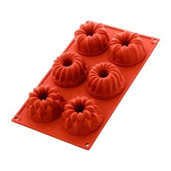Achat en ligne Moule en silicone 6 cakes fantaisies - Alice Délice