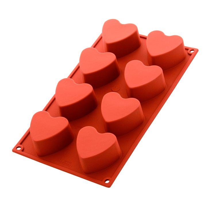 Moule en silicone 8 cœurs - Alice Délice