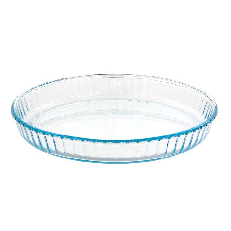 Plat à tarte transparent 25cm - Pyrex