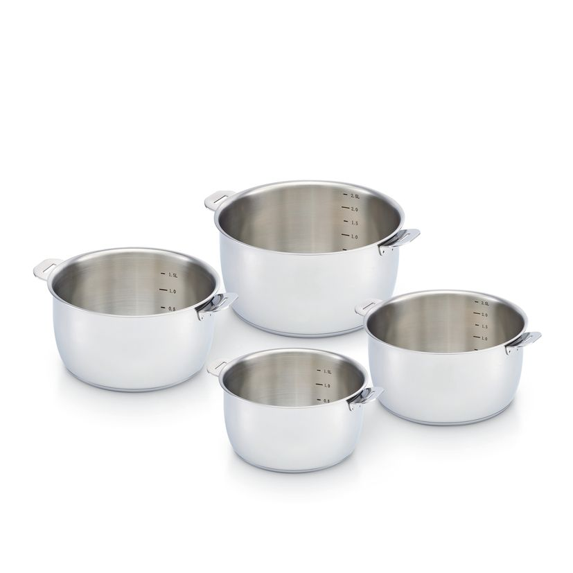 Set 4 casseroles inox amovibles Select 14/20cm - Beka
