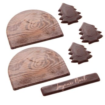 SET DECOR ALIMENTAIRE BUCHE FORET - ALICE DELICE