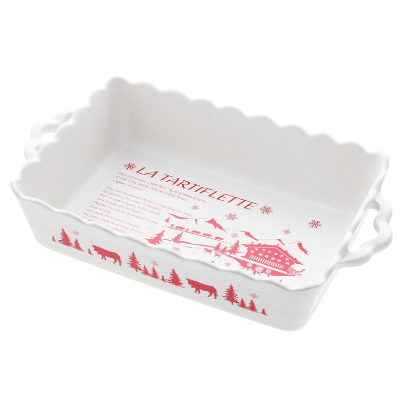 Plat à tartiflette blanc 40cm - Table & Cook