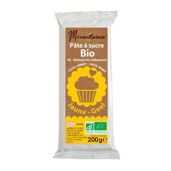 Achat en ligne Pâte à sucre bio jaune 200gr - Mirontaine