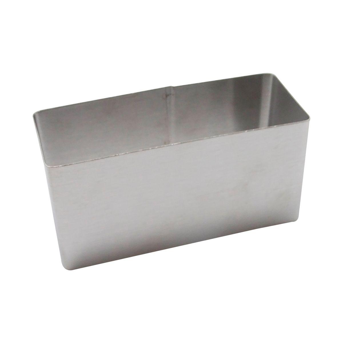 Rectangle inox 9cmx4cm h4.5 cm - Alice Délice