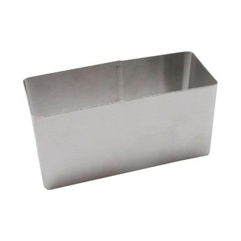 Rectangle inox 9cmx4cm h4.5 cm - Alice Délice