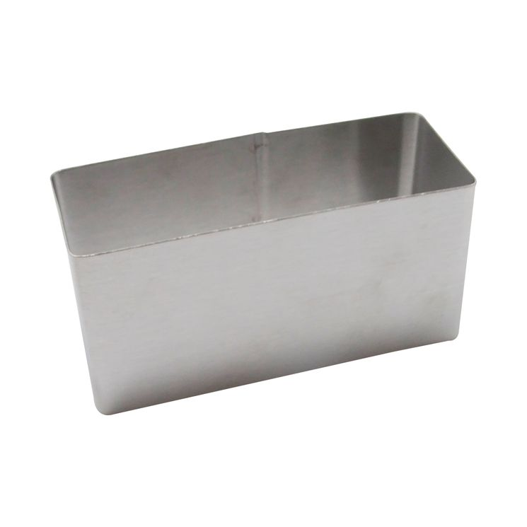 Rectangle inox 9cmx3.7cm h4.5 cm - Zodio