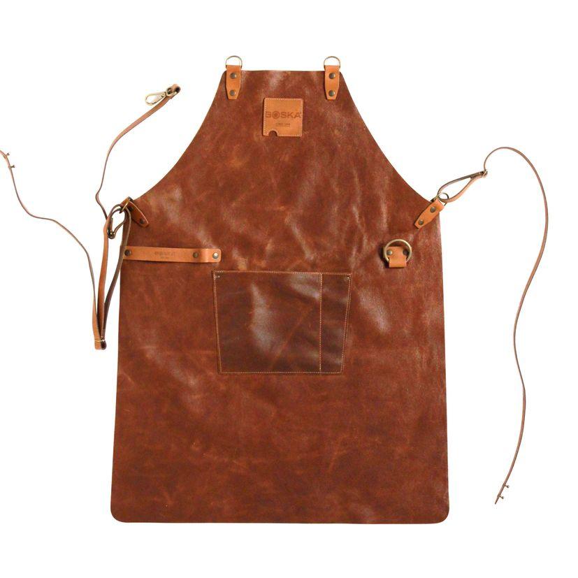 Tablier cuir marron - Boska