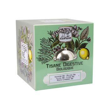Cube métal tisane digestive 24 sachets bio* 36g - Provence d´Antan