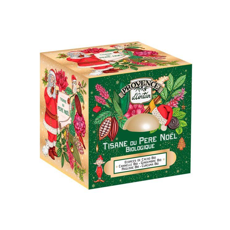 Cube métal tisane du pere Noel 48g bio - Provence d´Antan