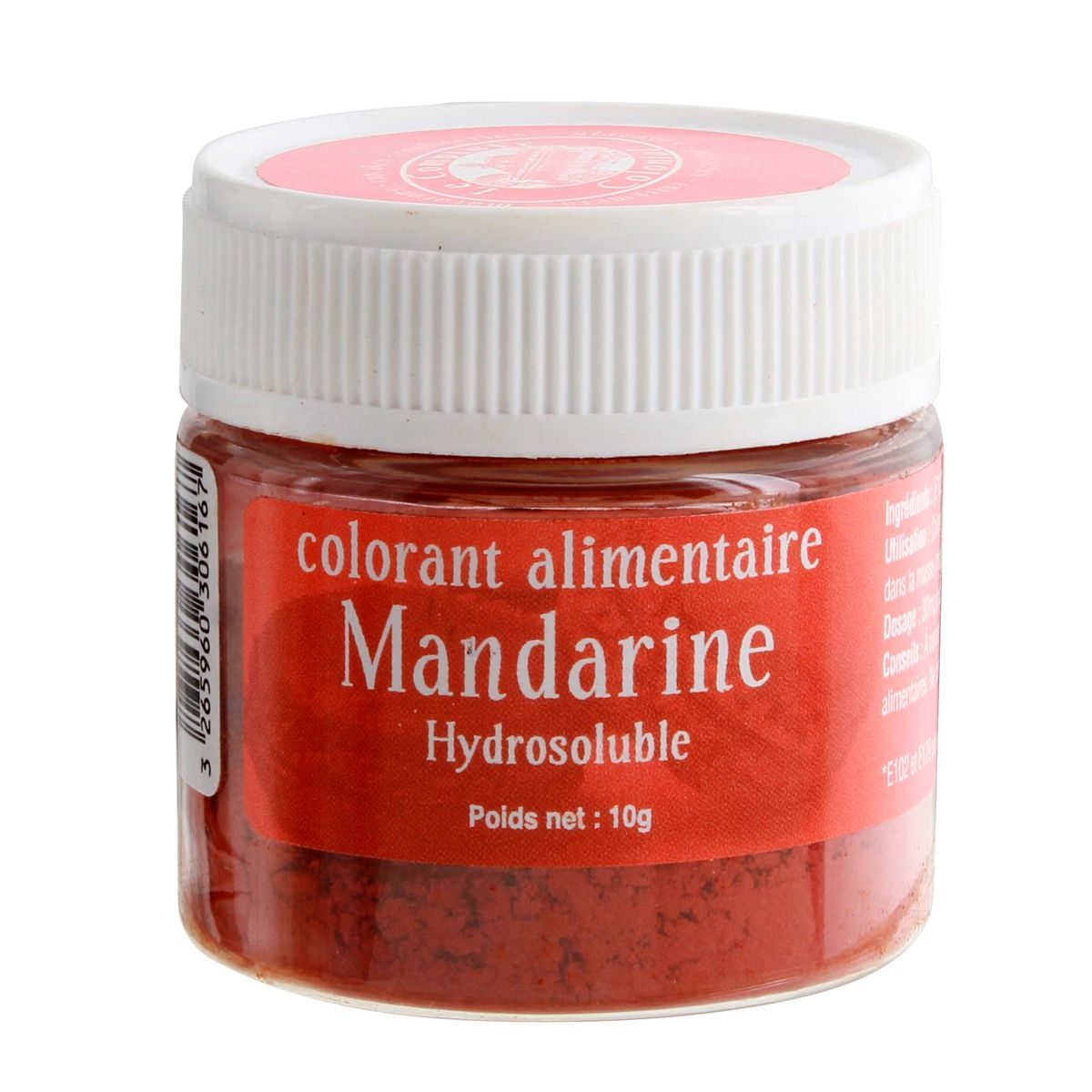 Colorant alimentaire hydrosoluble 10gr mandarine - Le Comptoir Colonial