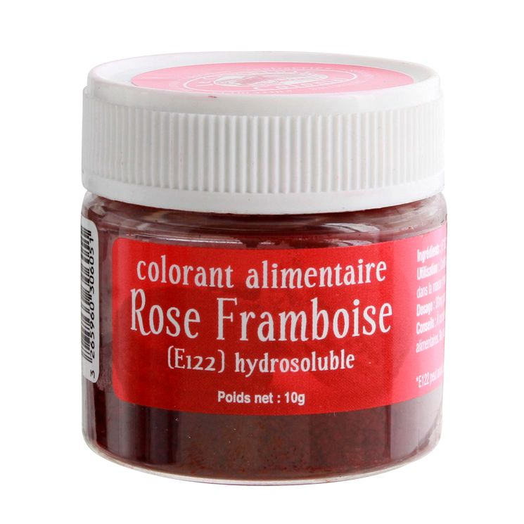Colorant alimentaire hydrosoluble rose framboise 10 gr - Le Comptoir Colonial