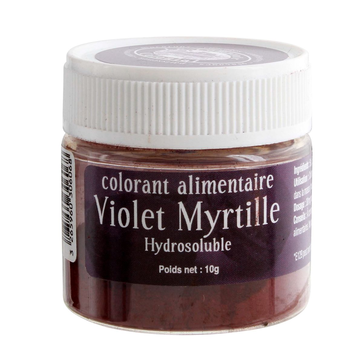 Colorant alimentaire hydrosoluble 10gr violet myrtille - Le Comptoir Colonial