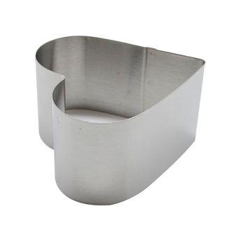 Coeur inox 7.5cmx7cmx4.5cm - Zodio
