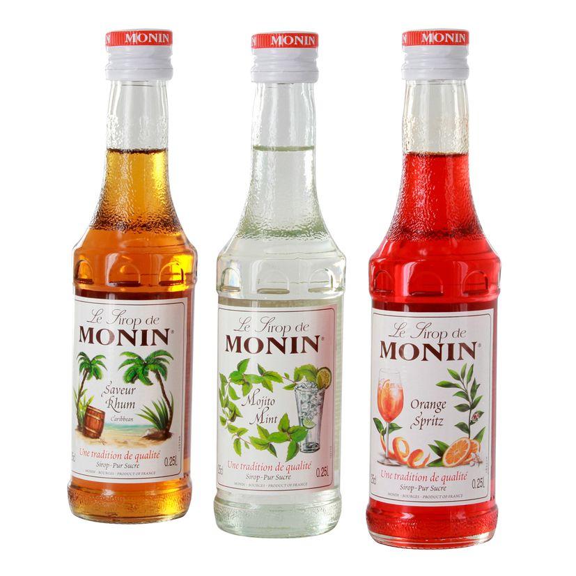 Coffret sirops sans alcool 3x25cl - Monin