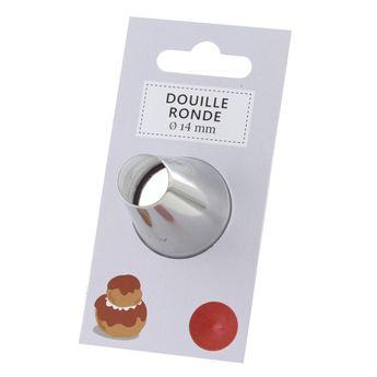 Douille inox ronde 14mm
