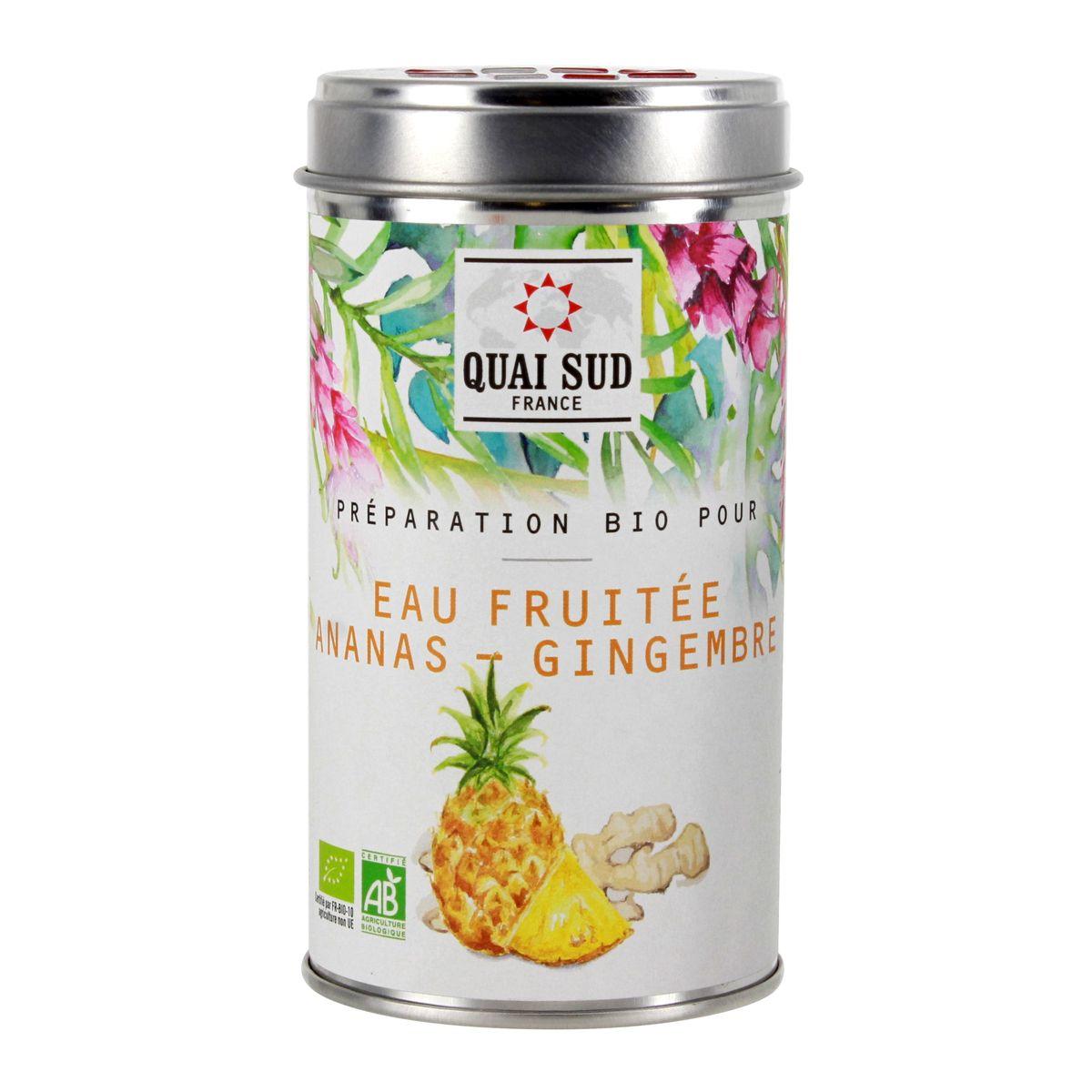 Eau fruitée ananas - gingembre - Quai Sud