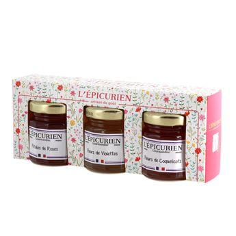 Confiture rose/violette/coquelicot - L´Epicurien