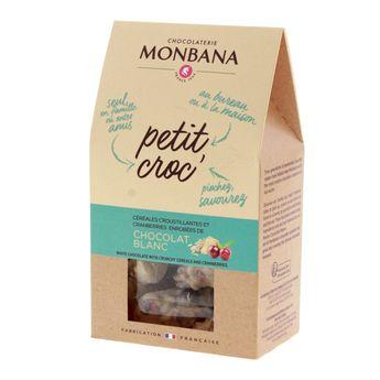Achat en ligne Petit Croc chocolat blanc 120gr - Monbana