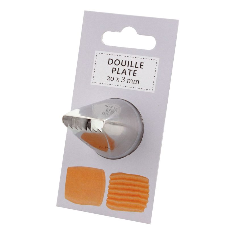 Douille inox plate 20x3 mm