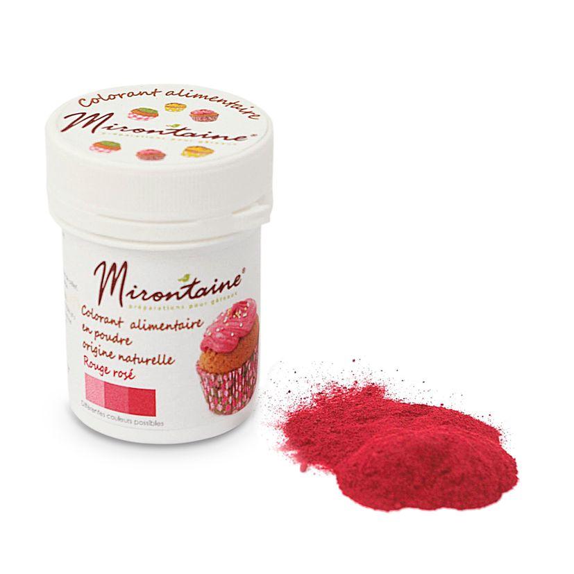 Colorant alimentaire en poudre naturel bio rouge rose 10 gr - Mirontaine