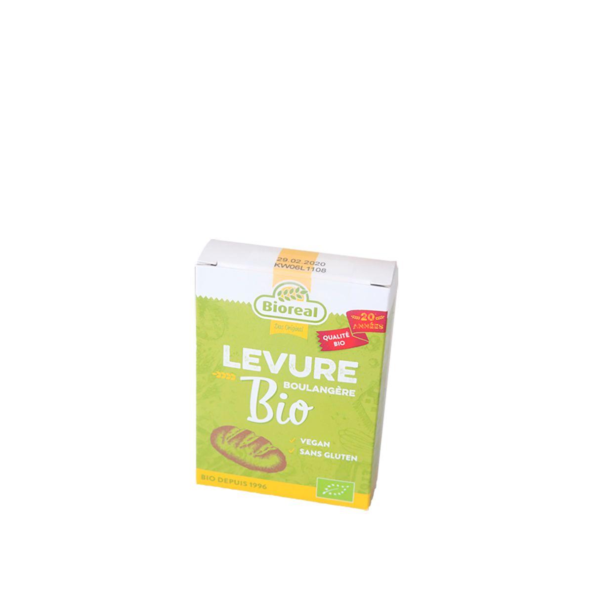 Levure sèche bio et sans gluten 5x9gr - Bioreal