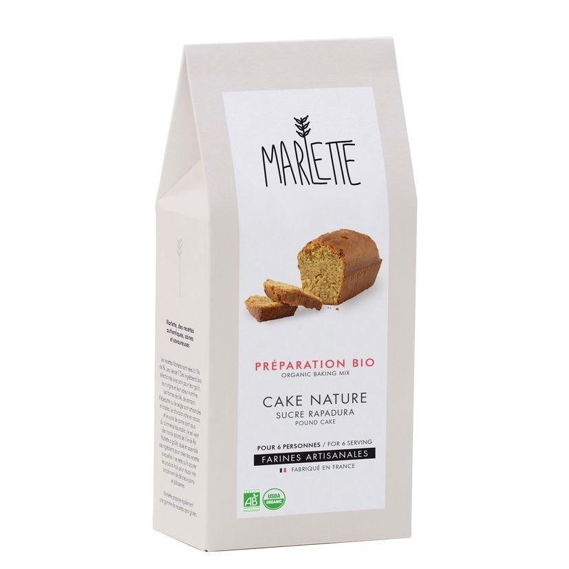 Préparation bio pour cake nature au sucre Rapadura 315gr - Marlette