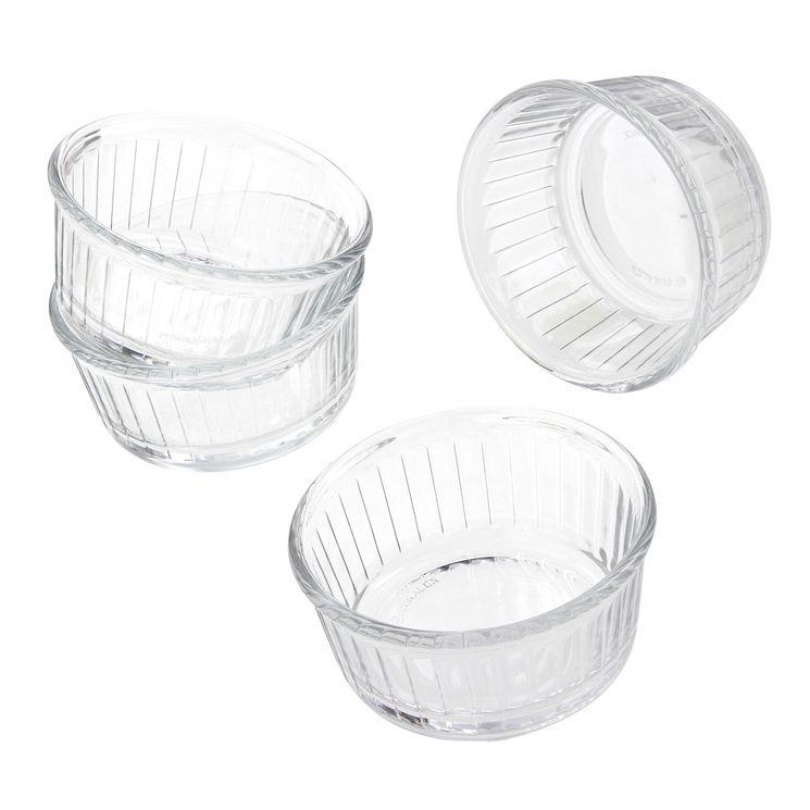 Lot 4 ramequins en verre - Duralex