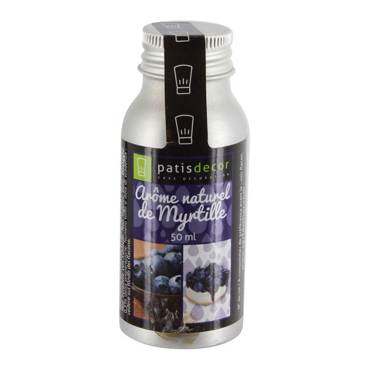 Arôme alimentaire naturel myrtille 50 ml - Patisdecor
