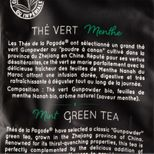 Thé vert bio à la menthe 100gr - Thés de la Pagode