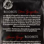 Rooibos citron gingembre bio - Thés de la Pagode