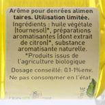 Arôme alimentaire bio citron 58 ml - Trésors de Chefs