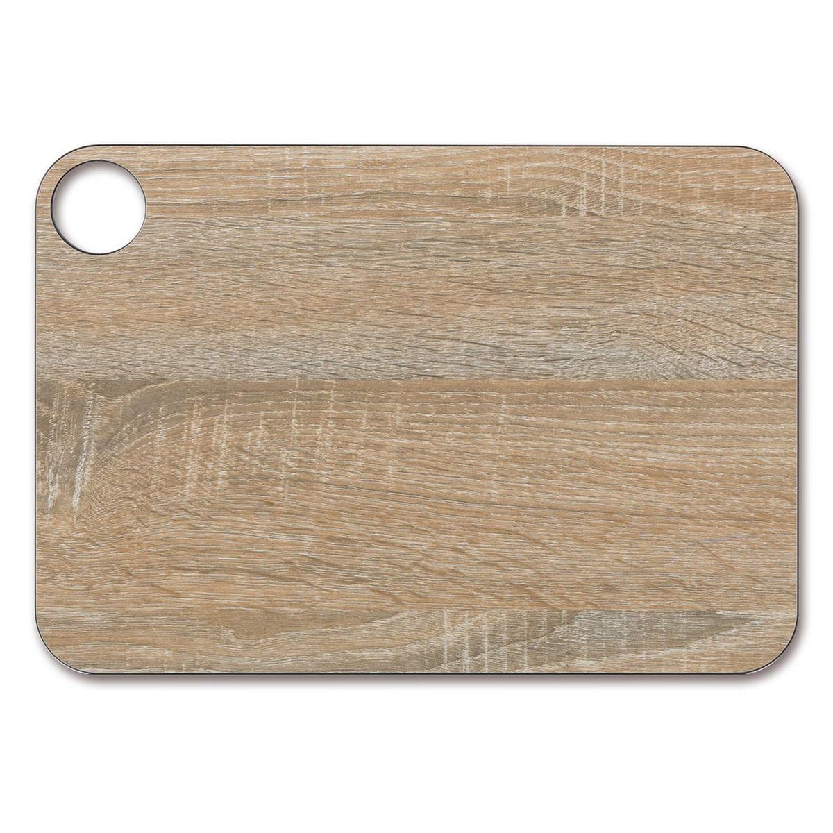 Planche à découper effet bois en papier compressé 33 x 23 cm - Arcos