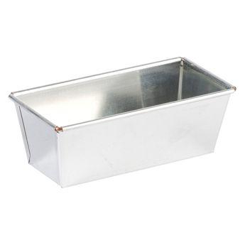 Moule à cake rectangulaire en fer blanc 24 x 7 cm - Gobel