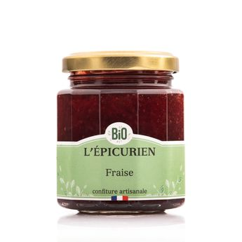 Confiture fraises bio - L´Epicurien
