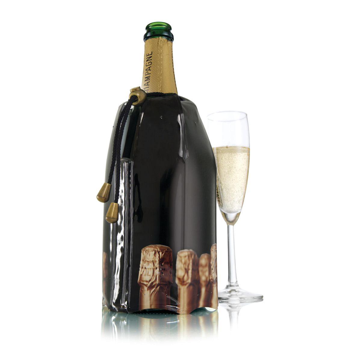 Rafraîchisseur à champagne, décor bouchons - Vacu vin