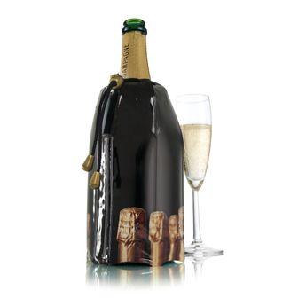 Achat en ligne Rafraîchisseur à champagne. décor bouchons - Vacu vin
