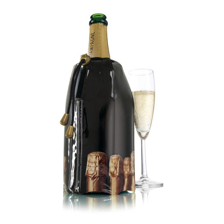 Rafraîchisseur à champagne. décor bouchons - Vacu vin