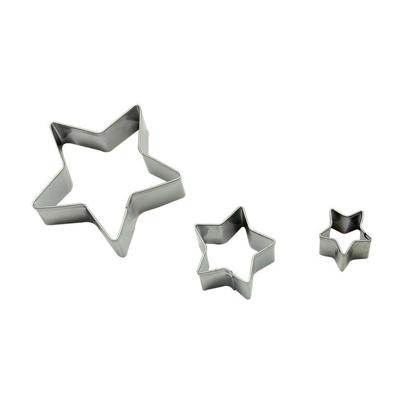 Découpoir inox étoile x3