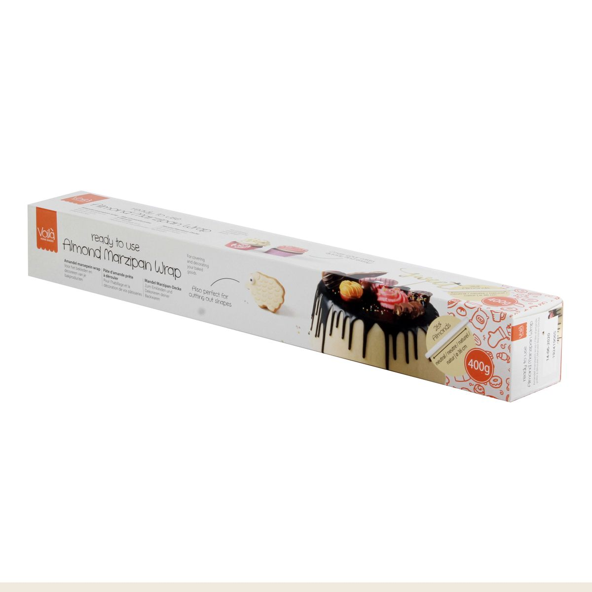 Rouleau pâte d´amande blanc 400 gr - Voila