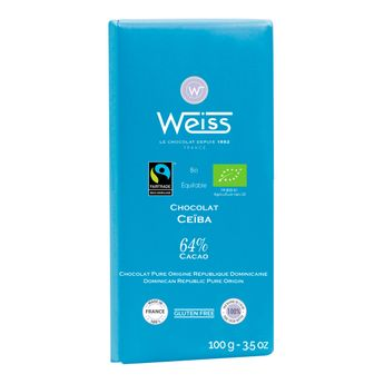 Tablette 100g ceiba 64% bio-equitable* - Weiss
