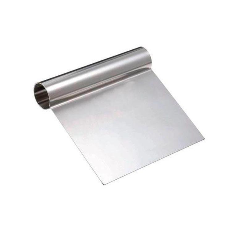 Spatule en inox 12 x 12 cm, pour lisser, racler ou couper - Alice Délice